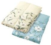 ロマンス小杉羽毛肌掛けふとんシングル150x210cmベージュSeora(セオラ)うもうかけぶとん布団洗濯洗える快適花柄