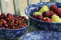 英国老舗陶器バーレイ社ブルーキャリコサラダボウル