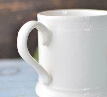 英国食器ハートリーグリーン・リーズウェアハンスレットフーテッドマグカップ