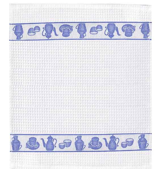 TEA(ティー)ディッシュクロス(ふきん)ブルー ワッフル生地/綿100%/おしゃれ/かわいい/緑/ポルトガル製
