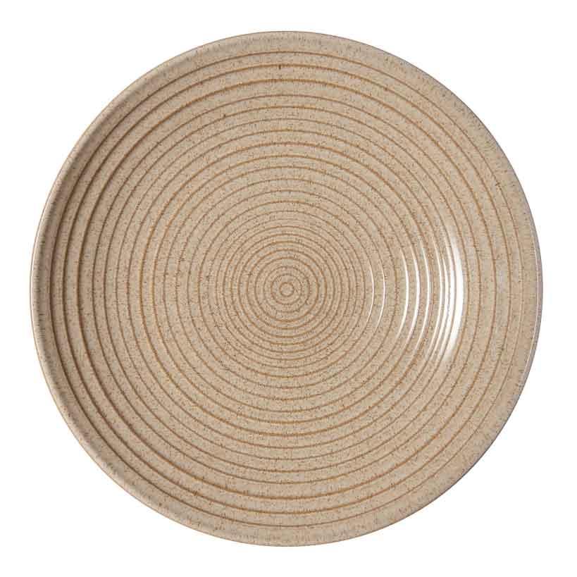 イギリス食器  Denby デンビー スタジオクラフト リッジボウルM 25cm (バーチ) 耐熱/おしゃれ/かわいい/おすすめ/ギフトセット/レトロ/ナチュラル