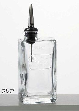 Luigi Bormioli ルイジボルミオリ社 Optima オイルディスペンサー保存容器 オリーブオイル クリア 250ml オイルボトル/保存瓶/イタリア製/ガラス