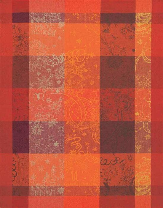 ガルニエティエボー フレンチクロス ミルカラーフー 57×77cm 綿/おしゃれ/かわいい/赤/フレンチ/GARNIER THIEBAUT