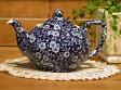 イギリス食器 バーレイ社 ブルーキャリコ ティーポット 550cc 花柄/おしゃれ/陶器/おすすめ/かわいい