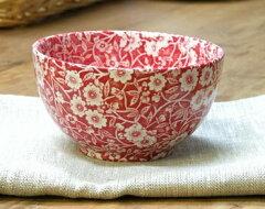 英国食器バーレイ社 レッドキャリコ シュガーボウル大 イギリス/おしゃれ/洋食器/陶器
