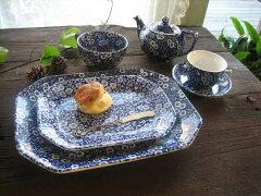 コントラストの強い色彩が人気のキャリコ英国バーレイ社 ブルーキャリコ(Blue Calico) スク...