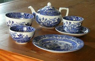 イギリス食器バーレイ社ブルーウィローティーポット550mlオリエンタル/おしゃれ/陶器/おすすめ/かわいい