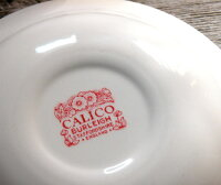 英国食器バーレイ社レッドキャリコスープボウルΦ20.5cm