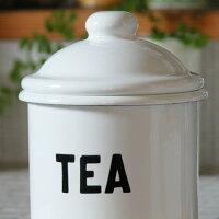 THEOLDEFARMHOUSE琺瑯キャニスター(TEA・SUGAR・COFFEE)保存容器 キッチン用品 食器 調理器具 ホーロー ほうろう キッチンストッカー】
