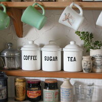 THEOLDEFARMHOUSE琺瑯キャニスター(TEA・SUGAR・COFFEE)保存容器|キッチン用品|食器|調理器具|ホーロー|ほうろう|キッチンストッカー】