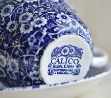 英国食器バーレイ社ブルーキャリコブレックファーストカップ&ソーサー300ml