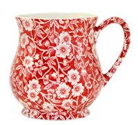 英国バーレイ社レッドキャリコサンドリガムマグ(284ml)【イギリス】【食器】【陶器】