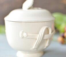 イギリス製ハートリーグリーン・リーズウェアピアスドウェアシュガーポット紅茶/コーヒー/砂糖