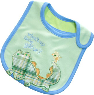 Carters Carter's check reveals your applique bib / bib green × blue 10P04oct13 Carter's baby bib bibs
