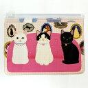 ソファーと猫が描かれた可愛いポーチは 小物や文房具を入れるのにも便利!!ソファーと猫のクリア...