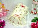 ティッシュケース オフホワイト ティッシュボックスカバー かわいい バラ雑貨 ローズ レース フリル 薔薇雑貨のおしゃれ姫【クリスマス】
