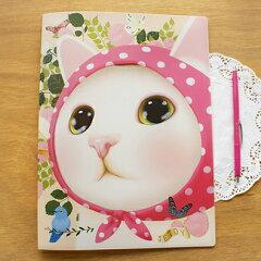 表も裏も可愛いネコ柄♪キュートでおしゃれなシロネコグッズ・ステーショナリーねこクリアファ...