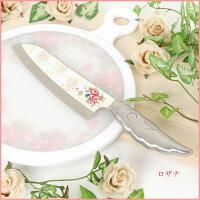 包丁エンジェルナイフキッチンステンレス華やかレディース上品エレガントバラ柄売れ筋かわいい人気女性婦人料理薔薇雑貨のおしゃれ姫