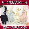 可愛いバレリーナウサギの携帯ストラップ【ミニ薔薇・リボン・パール付】【ブラック】【ピンク】【新規開店091106】