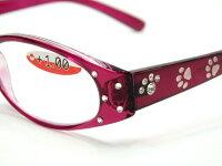シニアグラス透かし彫り猫リーディンググラスハードケース付き老眼鏡ラインストーン付きネコグッズ