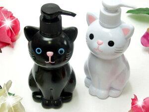 可愛さ満点!!手を洗うのが楽しくなっちゃう♪ハンドソープボトル ソープディスペンサー 猫型 ...