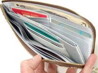 長財布L字ファスナーレパードヒョウ柄プリント箔押し加工ライトゴールド小銭入れカード入れ札入れネコグッズ