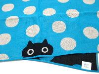 バスタオルMEMEドット三重ガーゼマタノアツコ猫柄手ぬぐいタオルたおる綿100%ネコグッズ