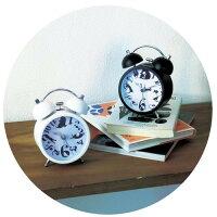 目覚まし時計猫数字+ネコデザイン置時計セイコー電池式黒猫スチールネコグッズ