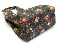 ショッピングバッグトートバッグバラ柄ショルダーバッグ手提げカバンエコバッグサブバッグかばん花柄ローズ
