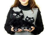 ぬいぐるみお座りクッションMサイズスワッターチャンイタズラオスワリネコマンジュウ猫型ネコグッズ黒猫しろねこフレンズヒル猫雑貨ニャンコ薔薇雑貨のおしゃれ姫