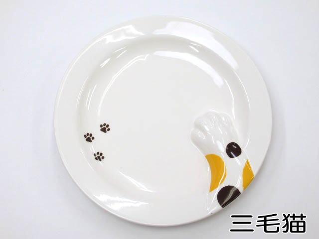 丸皿 どろぼう猫プレート トラネコ ラウンドプレート サンアート 食器 どろぼうねこプレート肉球 陶器(猫 雑貨 小物 グッズ ねこ ネコ 猫柄 猫雑貨 猫グッズ 女性 レディース かわいい おしゃれ ギフト包装無料)