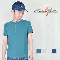 トゥームーン(TwoMoon)ヘンリーネックTシャツ袖リブ付き20182