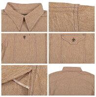 クッシュマン(Cushman)杢シャンブレーワークシャツ25520【送料無料・代引き手数料無料】