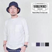 ダブルワークス(DUBBLEWORKS)7分袖ポケ付きTシャツ53004