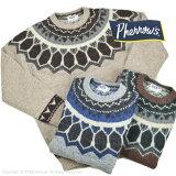 フェローズ(Pherrow's)ラグ柄ジャガードセーター PSFS1