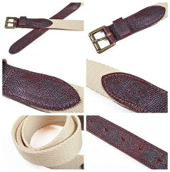 Wheelrobe Original Ivy Belt: Beige, Navy