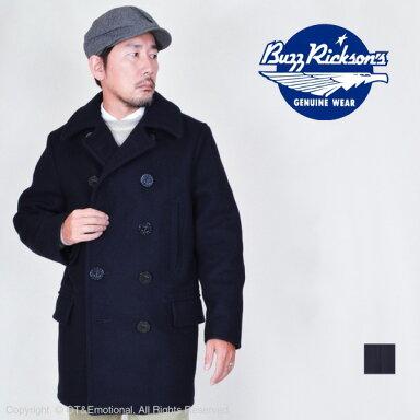 Buzz Rickson's Pea Coat BR14146: Navy