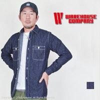 ウエアハウス(WAREHOUSE)デニムワークシャツ3076D【送料無料・代引手数料無料】