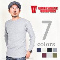 WAREHOUSE(ウエアハウス)4本針クルーネックワッフルロンT5902【送料無料・代引き手数料無料】