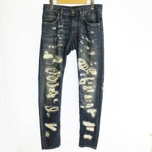 [Used] DOLCE&GABBANA Dolce&Gabbana Crash processing denim pants G6LBLD G8S25 2016SS Domestic genuine size: 44 Color: Blue/Import [f108]