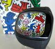 【中古】o.d.m×Keith Haring/オーディーエム×キースヘリング 腕時計 リストウォッチ DD100A-d1b ホワイト×ブラック クォーツ 樹脂バンド