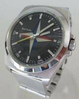 【】PaulSmithポールスミスFESTIVALOFBRITAIN腕時計-ブラック×シルバークォーツステンレススティールベルト