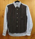【中古】COMME des GARCONS HOMME コムデ・ギャルソン オム 長袖シャツ サイズ:S カラー:ブルー×ネイビー系 / ドメス