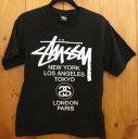 【中古】STUSSY/ステューシー 半袖 Tシャツ サイズ:S カラー:ブラック / ストリート