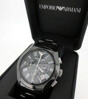 【】EMPORIOARMANI/エンポリオアルマーニ腕時計リストウォッチAR-1400ブラック×ブラッククォーツステンレススティールベルト