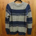 【中古】BAYFLOW ベイフロー アランガラ ニット セーター サイズ:3 カラー:グレー×ネイビー / インポート【f102】