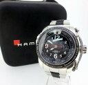 【中古】HAMILTON/ハミルトン KHAKI SUNSET/カーキサンセット 腕時計 リストウォッチ H62565133 ブラック×シルバー 自動巻き(オートマチック) ステンレススティールベルト