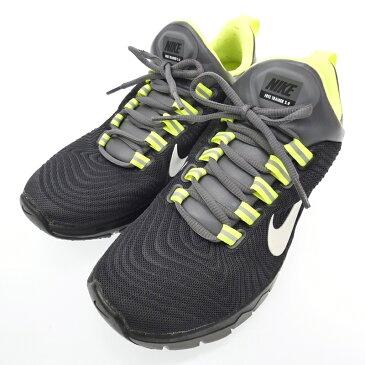 【中古】NIKE/ナイキ 644671-017 Nike Free Trainer 5.0スニーカー サイズ:25.5cm カラー:ブラック×イエロー系【f126】