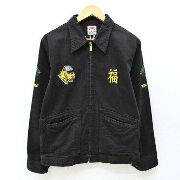 【中古】SAMURAI JEANS/サムライジーンズ ブラックデニムベトジャン サイズ:L カラー:ブラック / アメカジ【f093】