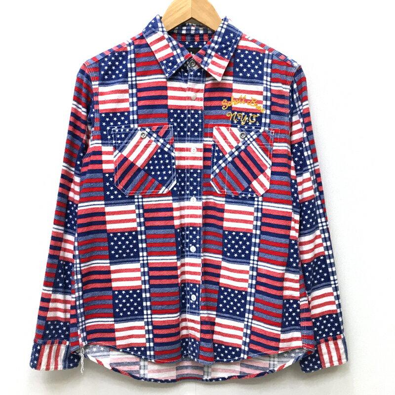 トップス, カジュアルシャツ SCHOTT FLAG PRINT FLANNEL WORK SHIRT M f101